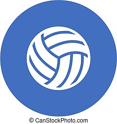 Volley ball, ball, game, match, sports icon vector image Can...