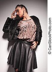 Elegant fashion woman posing