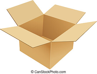 Cardboard Box. Vector illustration
