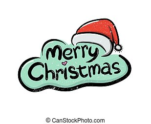 Merry Christmas Greetings - Vector illustration of Merry...