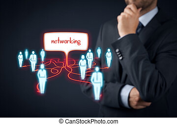 Networking concept - Professional networking concept...