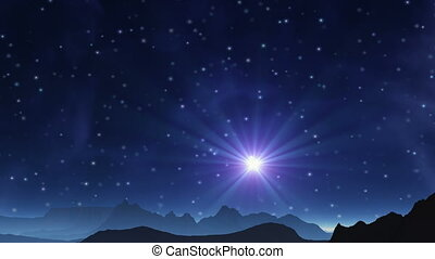 The blue star in the sky alien plan