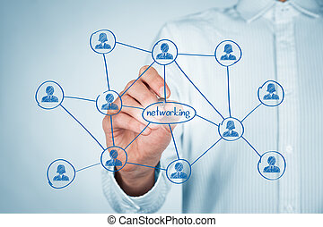 Networking concept - Professional networking concept....