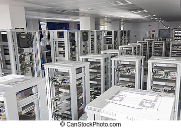 Data Center - Servers Farm in a Data center