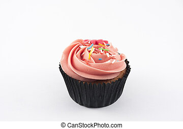 Cupcake isolated on white background
