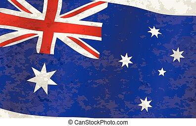Flag of Australia Grunge