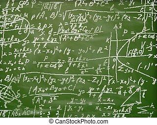 Math formulas on a blackboard. EPS 10