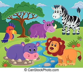 Animals topic image 2 - eps10 vector illustration