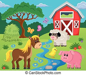 Farm topic image 1 - eps10 vector illustration.