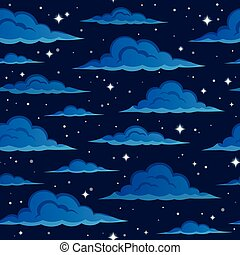 Night sky seamless background 2 - eps10 vector illustration