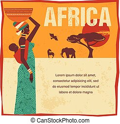 Africa - infographics and background - Africa - background,...