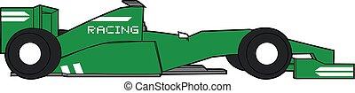 green racing car - Creative design of green racing car