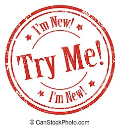 Try Me!-stamp - Grunge rubber stamp with text Try Me-I'm...