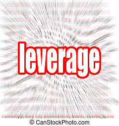 Leverage word cloud image with hi-res rendered artwork that...