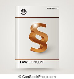Paragraph symbol - Cover brochure abstract symbol paragraph...