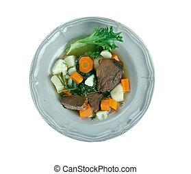Perpetual stew - various ingredients can be used in...