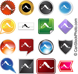 Welding Torch Icon Set