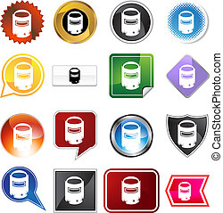 Welding Mask Icon Set