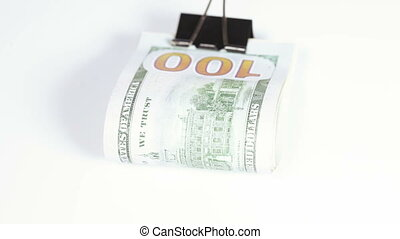 Stack dollars with clip