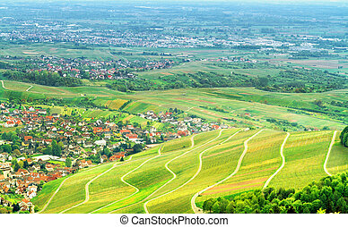 view of the black forest and typical village Germany Europe...