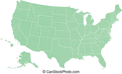 usa map by counties