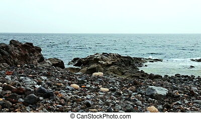 Wild stone and rock ocean shore - Wild stone and rock shore...