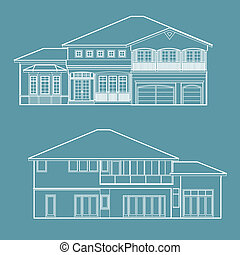 house blueprint illustration