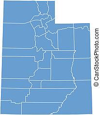 utah map by counties