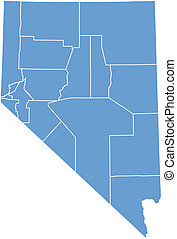 nevada map by county