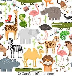 Jungle animals seamless pattern