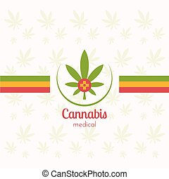 Canabis_Medical - Cannabis leaf on a light background with...