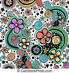 vector seamless color floral pattern - vector seamless color...