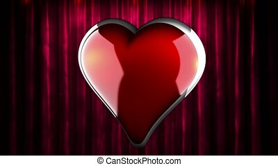 loop rotate heart at curtain stage