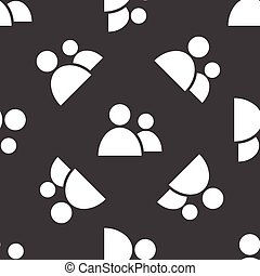 Two people pattern - Vector sihouette of two people repeated...