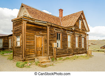 Abandoned Ranger Station in the Gold Mining Ghost Town of...