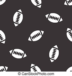 Rugby ball pattern - Image of rugby ball repeated on grey...