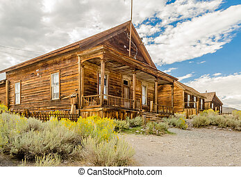 Abandoned House in the Gold Mining Ghost Town of Bodie,...