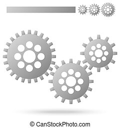 gears for cooperation symbolism - three gray gears for...