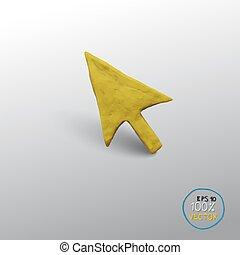 Vector yellow arrow