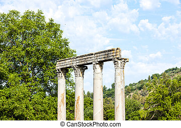 close up of Roman Temple, Riez, Provence-Alpes-Cote d''Azur,...