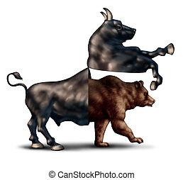 Bear Market Concept - Bear market correction financial...