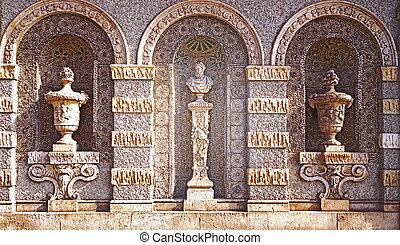 Munich, Bavarian National Museum, facade detail