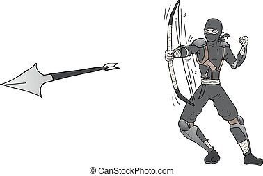 arrow ninja attack - Creative design of arrow ninja attack