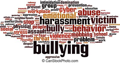 Bullying word cloud concept Vector illustration