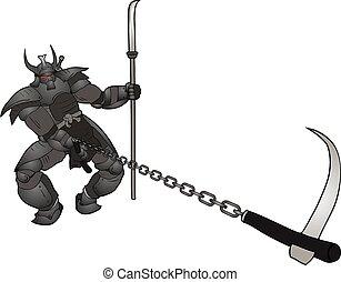 dark warrior attack - Creative design of dark warrior attack