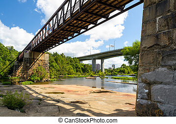 James River in Richmond Va. - The James river during low...