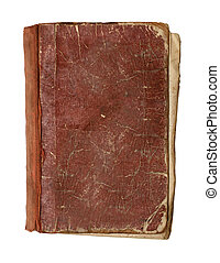 view from above on old book - view from above on old damaged...