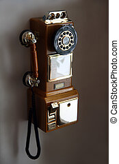 old telephone on wall