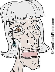 old woman face - Creative design of old woman face