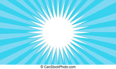 Blue background Video animation - Blue rotation background,...